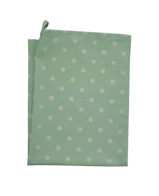 Lantlig mint grön och vit prickig handduk kökshandduk bf53636360805