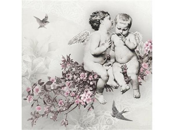 servetter med änglar